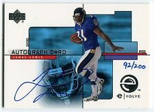 2000 Upper Deck e-Card Prize JAMAL LEWIS Rare On-Card Auto RC eVolve SP #/200