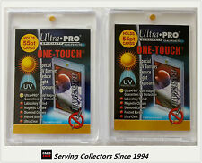 Ultra Pro UV One Touch 55 Point Magnetic Rigid Card Holders x 2-NRL cards