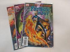 Fantastic Four Comic Lot Secret Invasion Fantastic Four 1 2 3 NM Bagged Boarded