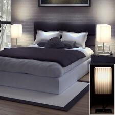 Jeu de 2 Ensemble LED table Lumières CHROME récolte lampes tissu blanc nuit