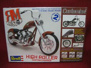 HIGH ROLLER Custom Chopper RM Kustom Motorbike Revell Monogram 1:12 Kit 7323