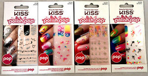 (4) Kiss Polish Pop Nail Art Accent Stickers New & Sealed NPOP01 Abbey Road Set