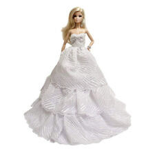 Peregrine White Wedding Gown with Layered Ruffles Ball Gown for 11.5 inches doll