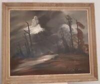 Roger COMTE (XX-XXI)  Peinture signée. painting signed paysage Franc comtois