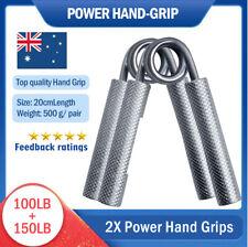 2X Power Hand Grips Crossfit Grip Strength Bar Gripper Steel Exercise New