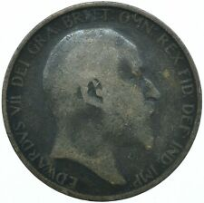 1906 ONE PENNY COIN EDWARD VII GREAT BRITAIN BEAUTIFUL COLLECTIBLE    #WT31317