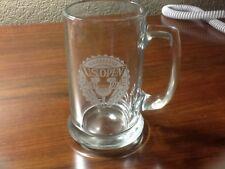 Beautiful Vintage 1991 Us Open Golf Clear Glass Mug, Hazeltine Golf Club, Mint!