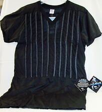 BLACK 3X-LRG V neck  RVU COOLMAX RIBBED tube T SHIRT POLICE BODY ARMOR & SPORTS
