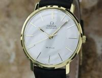 Omega DeVille 18K Solid Gold 32mm Automatic 1960s Men's Vintage Dress Watch LV78