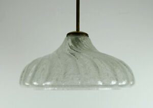 mid century PENDANT LAMP doria-leuchten frosted glass ice glass 60s hanging lamp