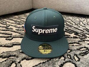 Supreme World Famous Box Logo New Era Hat Dark Green 7 3/8