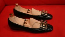 $759.00 !! LOUIS VUITTON  WOMEN RARE BLACK  PATENT LEATHER SHOES FLATS SIZE 36.5
