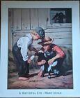 A Watchful Eye by Mark Arian Art Print Boys Goat Farm Child Decor Poster 20x24