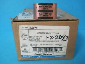 New Box of 25 Thomas & Betts Compression C Tap 106 Black Die 350-6 Cat. 54770