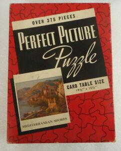 "Vintage Picture Perfect Puzzle 19½"" x 15½"" (Mediterranean Shores) No. 25 USA"