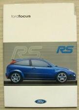 FORD Rallye Sport FOCUS RS Car Sales Literature Pack March 2001 #FA1389/1