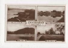 Inveraray Calling 1931 Multiview RP Postcard 496a