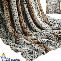 Rabbit Faux Fur Throw Super Soft Warm Plush Blanket Warm Bed Leopard Sofa 2019