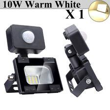 10W PIR Motion Sensor LED Flood Light Warm White Shop Outdoor Security Lighting