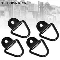Tie Down Anchor 4pc Lashing D Ring Metal Plated Points Ute Trailer 60x60MM