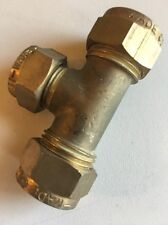 """WADE BRASS COMPRESSION FITTINGS - 1/2""""X1/2""""x3/8"""" Tee Incl Nuts And Olives Brass"""