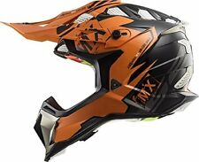LS2 MX470 Subverter Emperor Orange Motocross Motorcycle Helmet Size XS