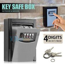 4 Digit Key Lock Box Wall Mount Combination Safe Password Hook Storage Organizer