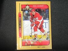 Tomas Holmstrom 1999-00 Upper Deck MVP Gold Script (007/100) Detroit Red Wings
