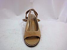 Bettye Muller Beige Suede Open Toe Sandal Wedge Size 9.5