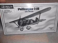 Encore Polikarpov 1-15 Airplane Model Kit in Box 1/72 Scale