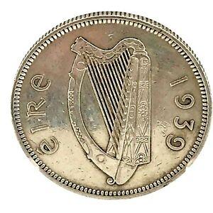 1939 Ireland Shilling Silver Coin KM#14  PL- ??