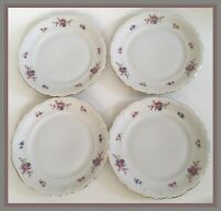 "Walbrzych Wawel Poland Rose Floral - 6.75"" Bread Plates - Set Of 4"