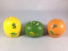 Vintage Florida Lemon Orange Salt and Pepper Shaker Lime Candle Holder Decor