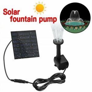 New Solar Panel Power Water Feature Pump Floating Pool Aquarium Fountain
