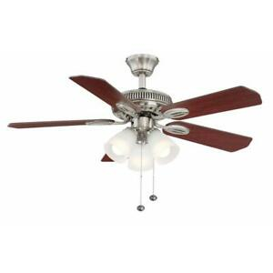 Hampton Bay Glendale 42 in. LED Indoor Brushed Nickel Ceiling Fan with Light Kit