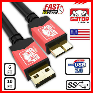 Micro USB 3.0 Cable High Speed Data SYNC For HDD Portable External Hard Drive