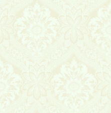 Traditional High End Victorian Damask Cream Nude Beige Double Roll Wallpaper