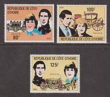 1981 Royal Wedding Charles & Diana MNH Stamp Set Ivory Coast Perf