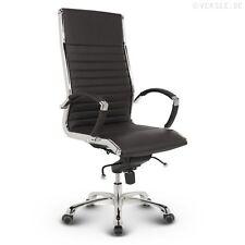 Leder Design Drehstuhl Chefsessel Bürostuhl Montreal schwarz