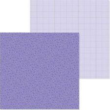 Doodlebug: 12x12 Petite Prints: Floral/Graph: Lilac 2pc Scrapbook Paper