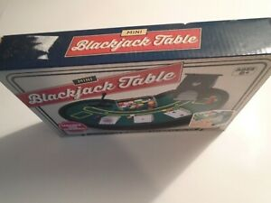 Mini Blackjack Table Desktop Set with Mini Card Deck Poker Chips