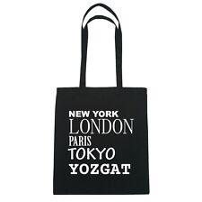 New York, London, Paris, Tokyo YOZGAT  - Jutebeutel Tasche - Farbe: schwarz