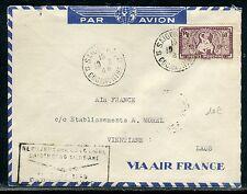 Indochine- Enveloppe par avion de Saigon pour le Laos en 1948  réf O 156