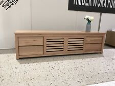 Aus Made Tassie Oak Hardwood Timber Veronica Lowlife Tv Entertainment Unit