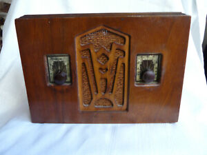 ART DECO ZENITH ? TUBE WOOD DESK TOP RADIO