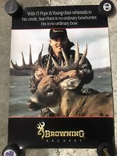 Vintage 1990's Browning Archery Big Game Hunting Poster Stan Potts Pope & Young