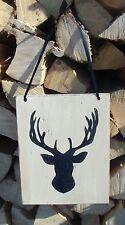 Deer Antler Wooden Sign