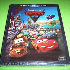 CARS 2 DISNEY PIXAR COMBO BLU-RAY + DVD NUEVO PRECINTADO SLIPCOVER