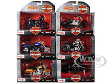 6 PIECE HARLEY DAVIDSON MOTORCYCLE SET SERIES 36 1/18 DIECAST BY MAISTO 31360-36