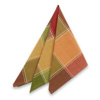 Autumn Check Napkins Thanksgiving Set of 4 Country Home Cabin Lodge Fall Harvest
